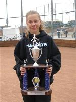 Kierstin with Tournament Trophy